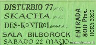 entrada de concierto de disturbio 77