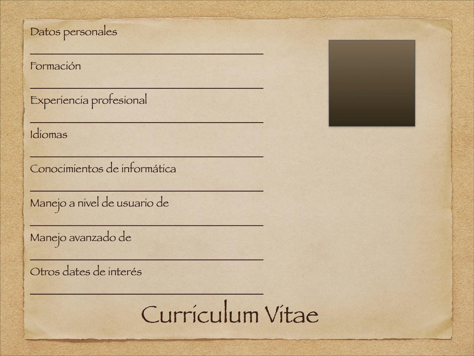 Así nos entendemos!: Mi Currículum Vitae