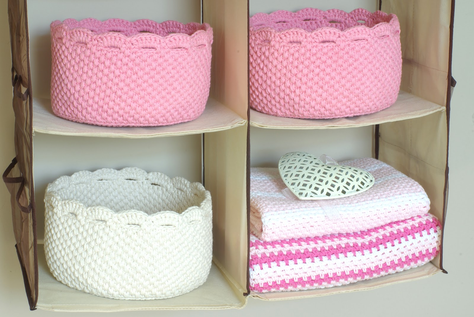 Вязание корзинки из ленточной пряжи 44