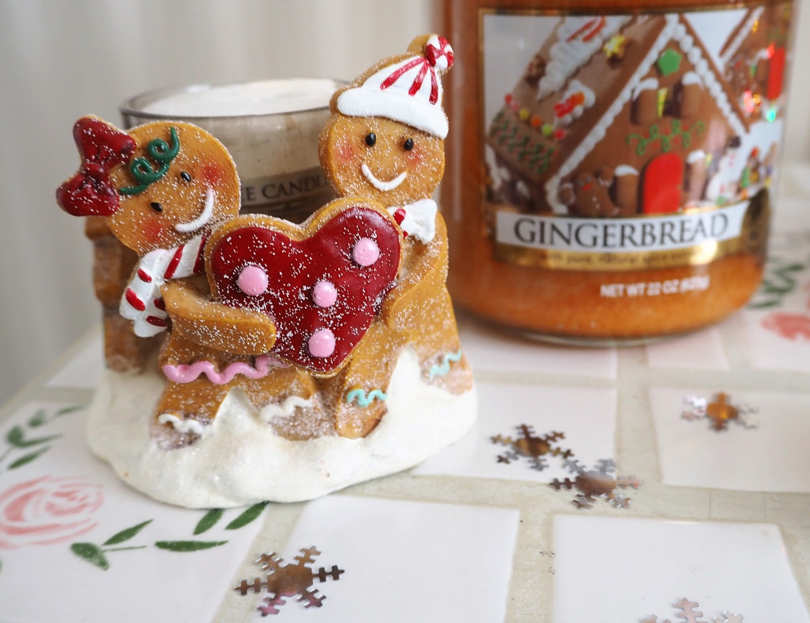 My Christmas Yankee Candles Gingerbread Couple Votive Holder | Katie Kirk Loves