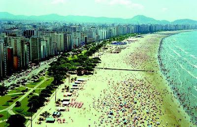 Imagens do Réveillon em Santos