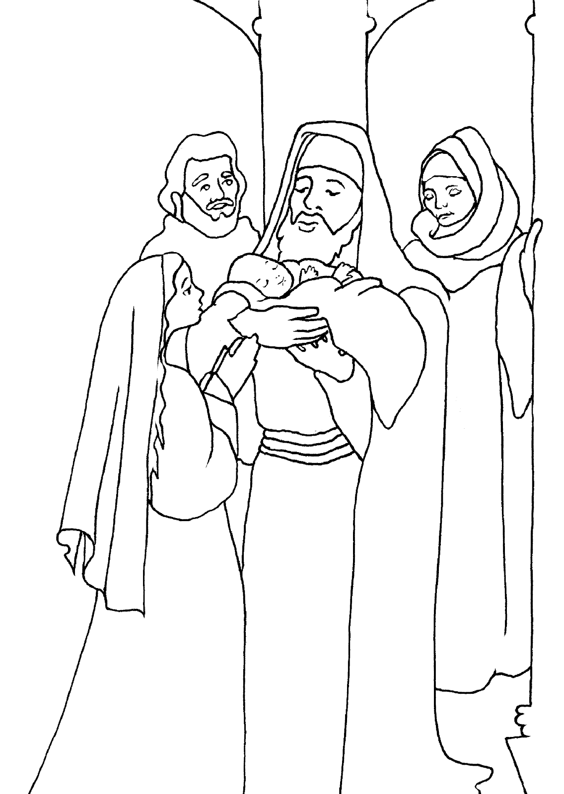simeon and anna coloring pages - photo#2