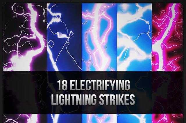 Electrifying Lightning Strikes Brushes