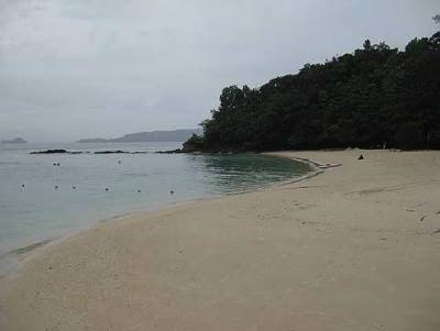 A stretch of beach at Pulau Sapi off Kota Kinabalu.