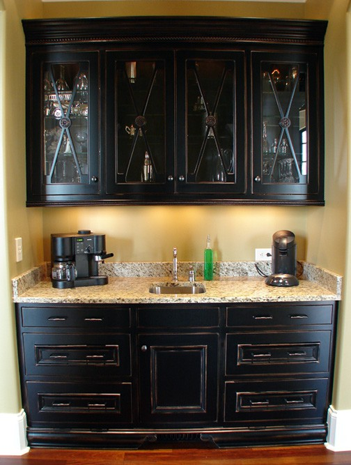 Bar area inspiration through the front door - Wet bar cabinets ...