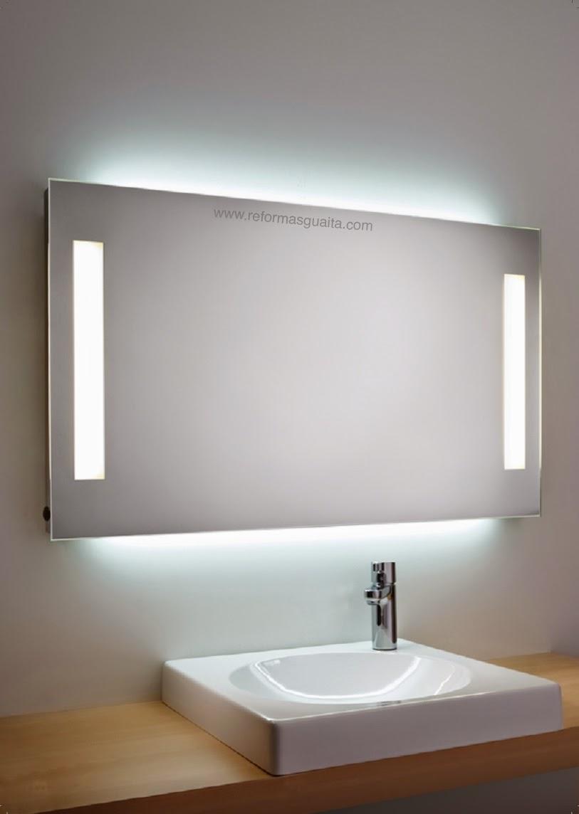 Mueble para bano con espejo y luz for Espejos grandes para banos