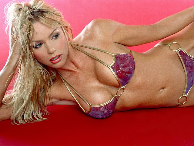 Nikki Ziering sexy in swimwear