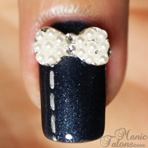 Sweety Bowknot, Born Pretty Store Review,  Pearl bow for nailart