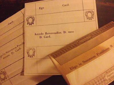 Conclave ballot cards