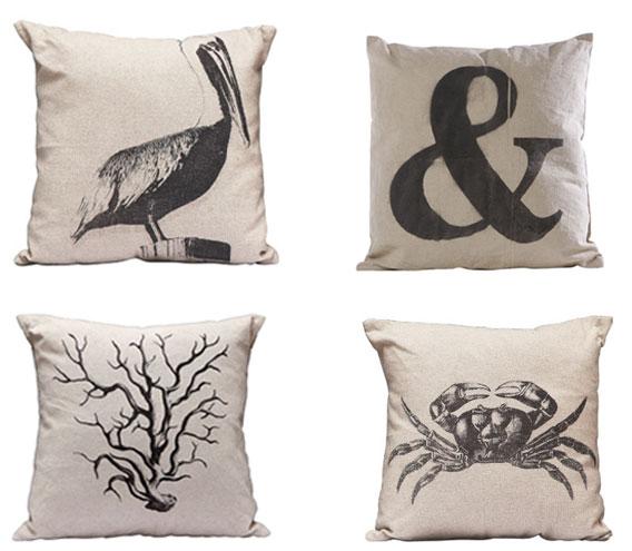 Modern Palm Boutique: Canvas Beach Pillows + SALE