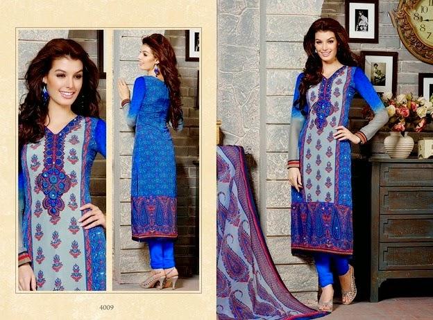 Arina Crape Salwar Kameez Collection 2014