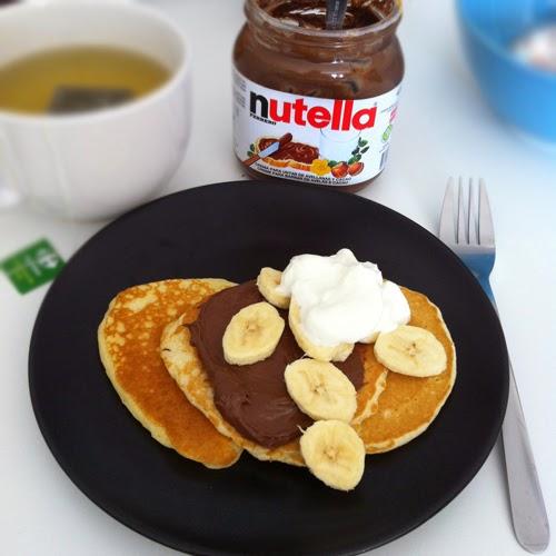pannkakor med nutella och banan