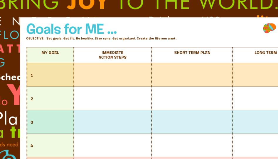 LobotoME Brain Fog Blog: Free Goals Printable!