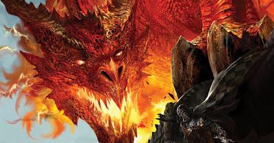 Dragão vermelho contra Cavaleiro