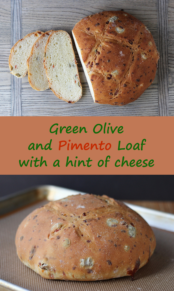 Cookistry: Green Olive and Pimento Bread with a Hint of Cheese