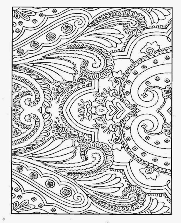 Dover Coloring Book Paisley Designs
