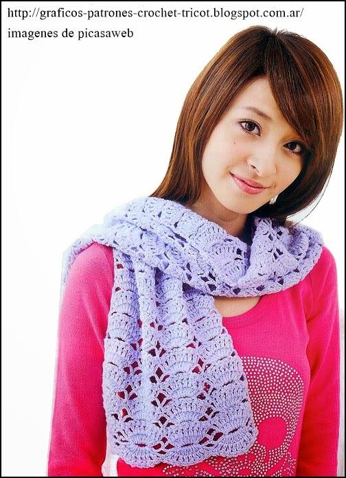 crochet fabric , CROCHET - GANCHILLO - PATRONES - GRAFICOS: BUFANDA ...