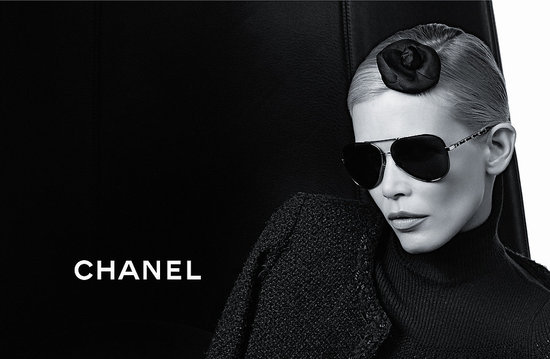 Claudia Schiffer for Chanel Autumn/Winter Eyewear 2011 Campaign