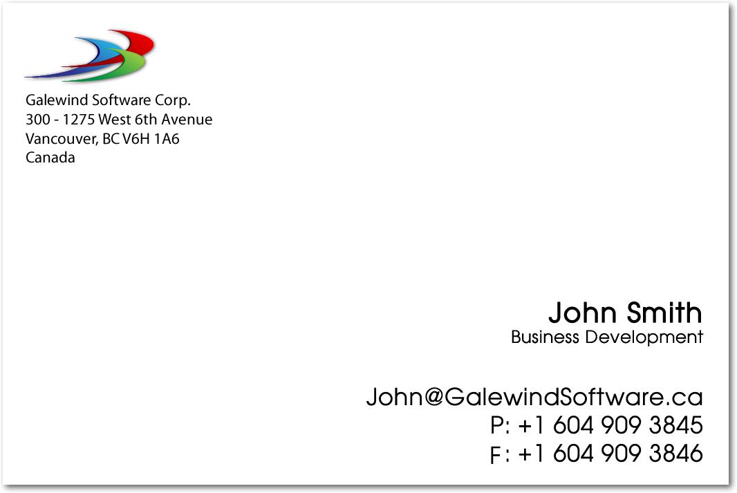 KOVO DESIGN: Random Stuff: Galewind Business Card WIth Updated Logo