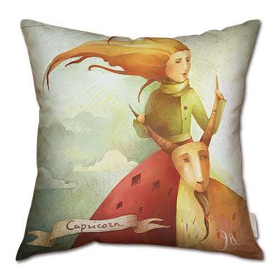 signo zodiacal capricornio en almohada