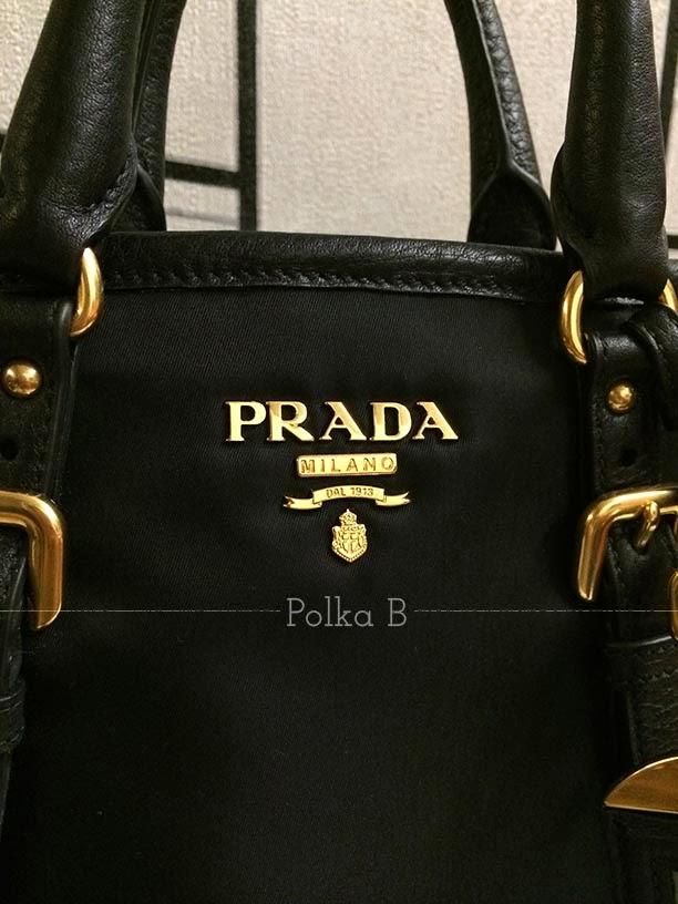 prada green handbag - Prada Tessuto Vitello Daino Nylon Leather Satchel (BN1841)   Polka ...