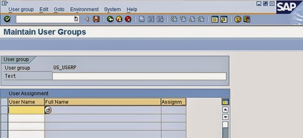 sap query user group assignment