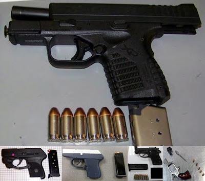 Guns Discovered at (L-R) MAF, SHV, TUL, CLT, HSV
