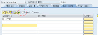 function module parameter screen