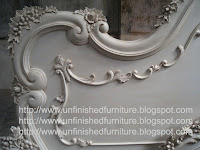 handmade french bed mahogany white painted