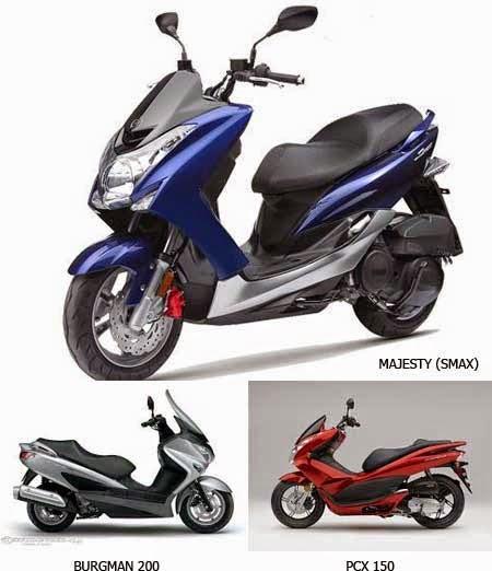 Yamaha SMAX vs Suzuki Burgman & Honda PCX