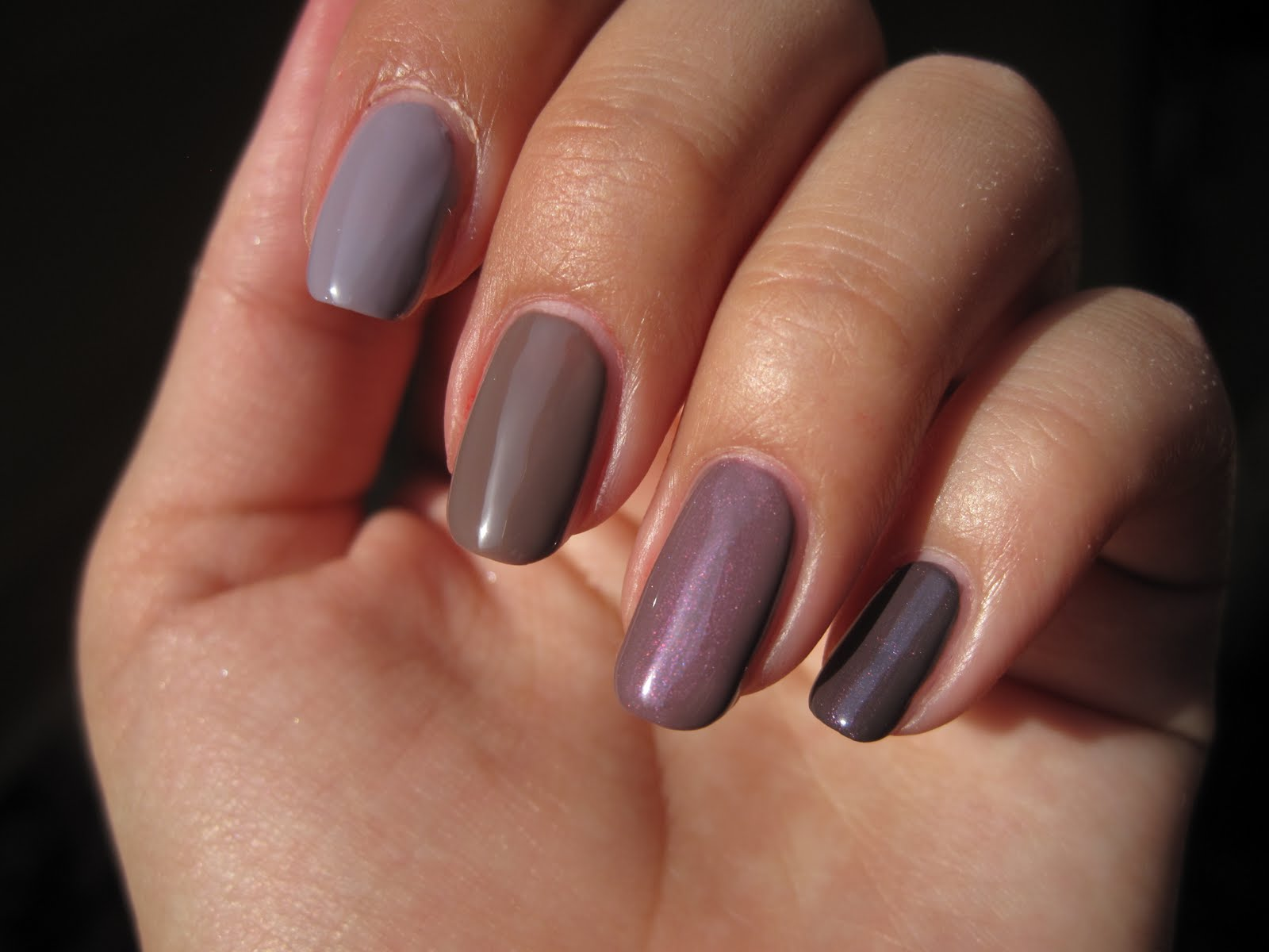 So Nailed: Taupe/Purple Comparison