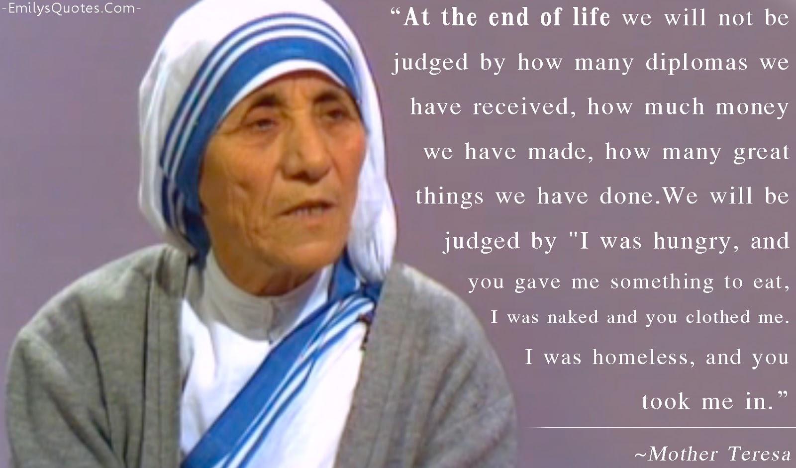 Hindi Essay On Mother Teresa