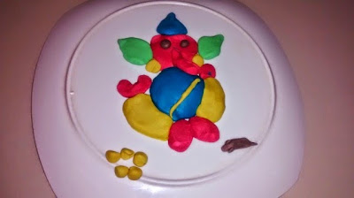 Eco-friendly Ganesha from Play doh