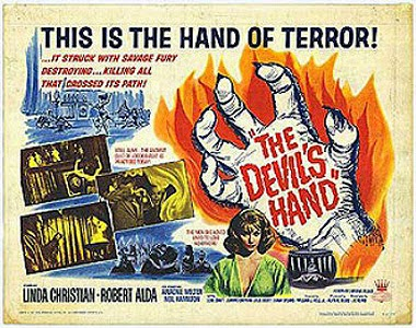 The Devil's Hand 1961 movie poster
