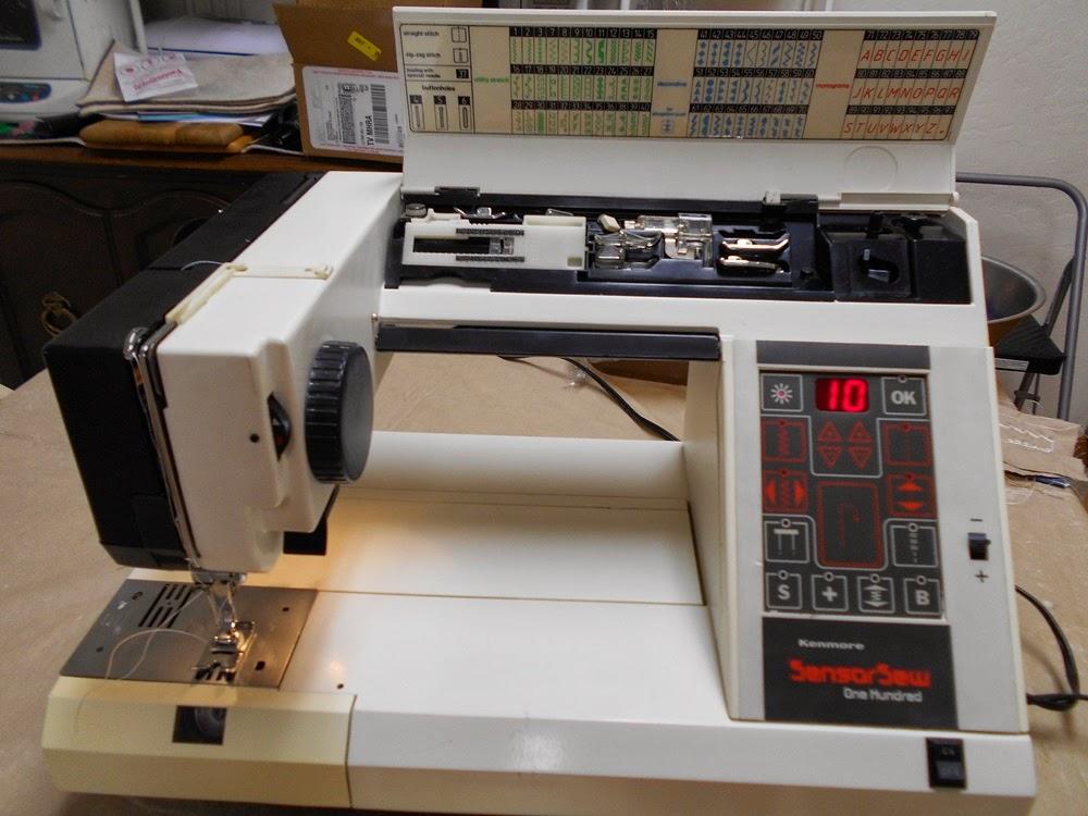 Thin Man Sewing Kenmore Sensor Sew 40 AKA Necchi Logica Adorable Italian Sewing Machine