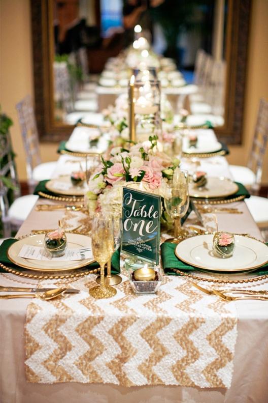 decorar mesa boda para Navidad