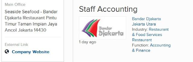 lowongan kerja Staff Accounting di jakarta