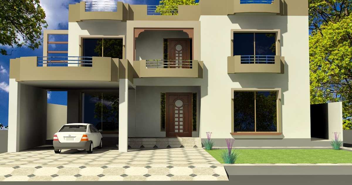 How To Design Home Front Elevation : D front elevation kanal old style house convert in