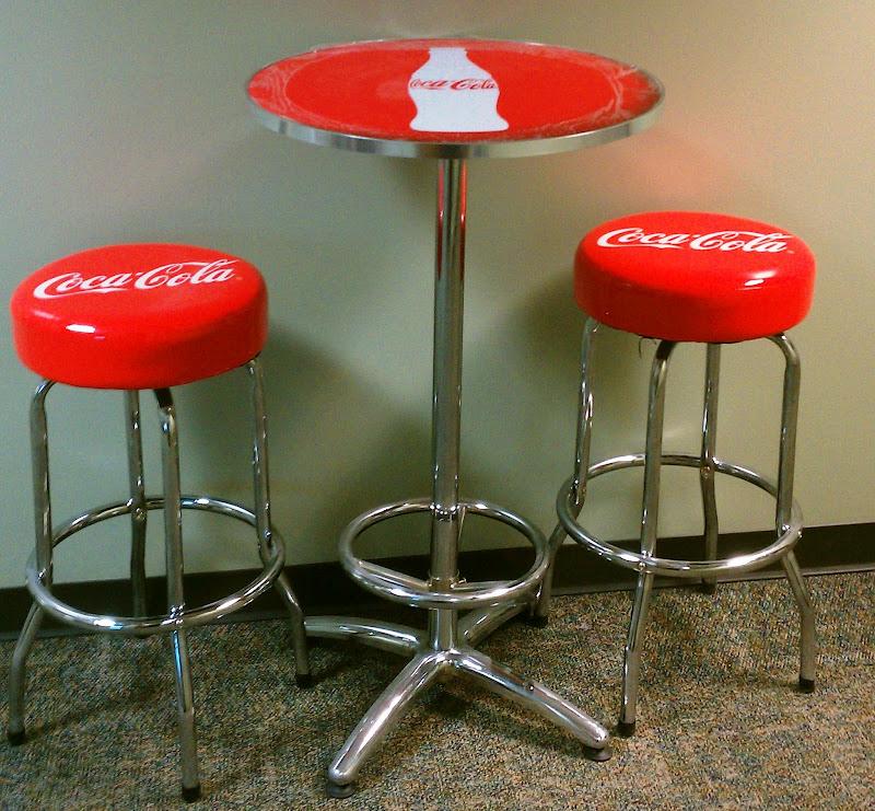 Coca-Cola Pub Table and Bar Stool