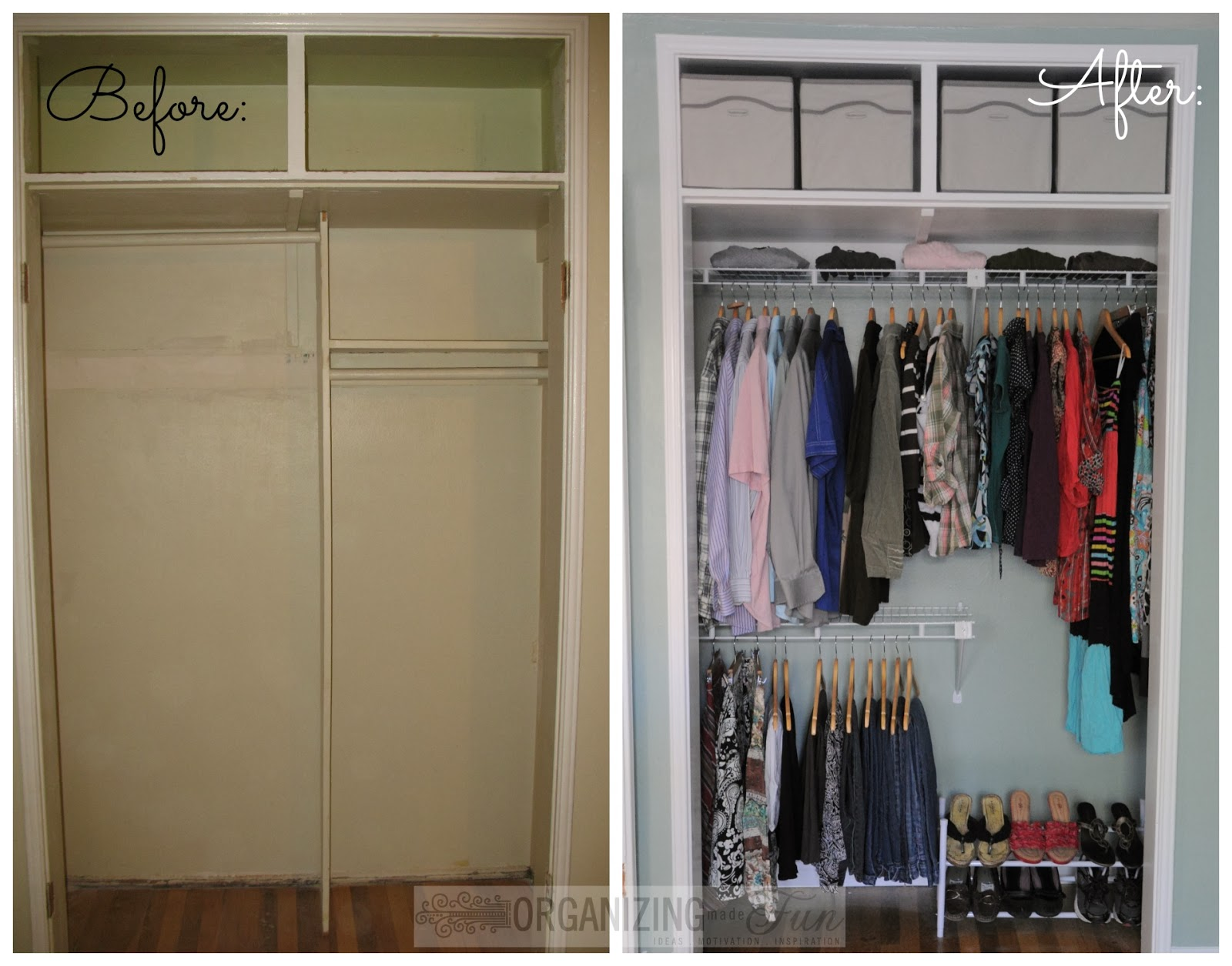 decorative organizing small closets on a bud