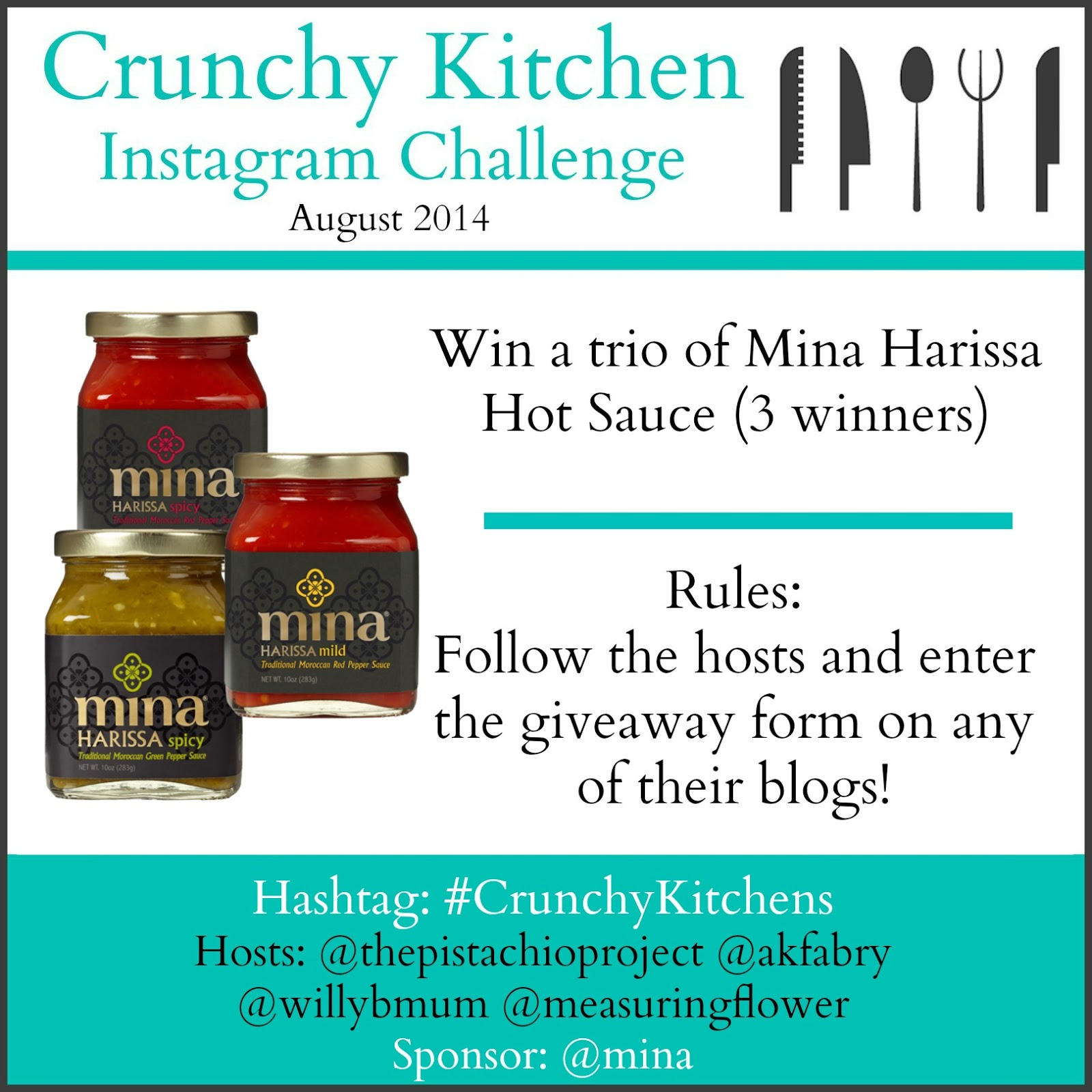 Crunchy Kitchens Instagram Challenge Giveaways