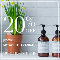 20% off with code MYSWEETSAVANNAH