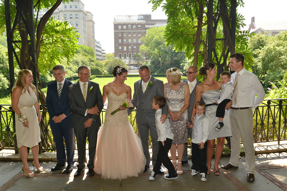 Family Portraits at Central Park Wedding