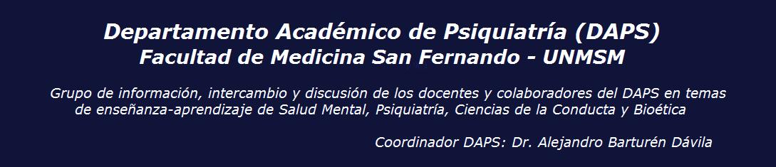 Blog DAPS - Psiquiatría UNMSM