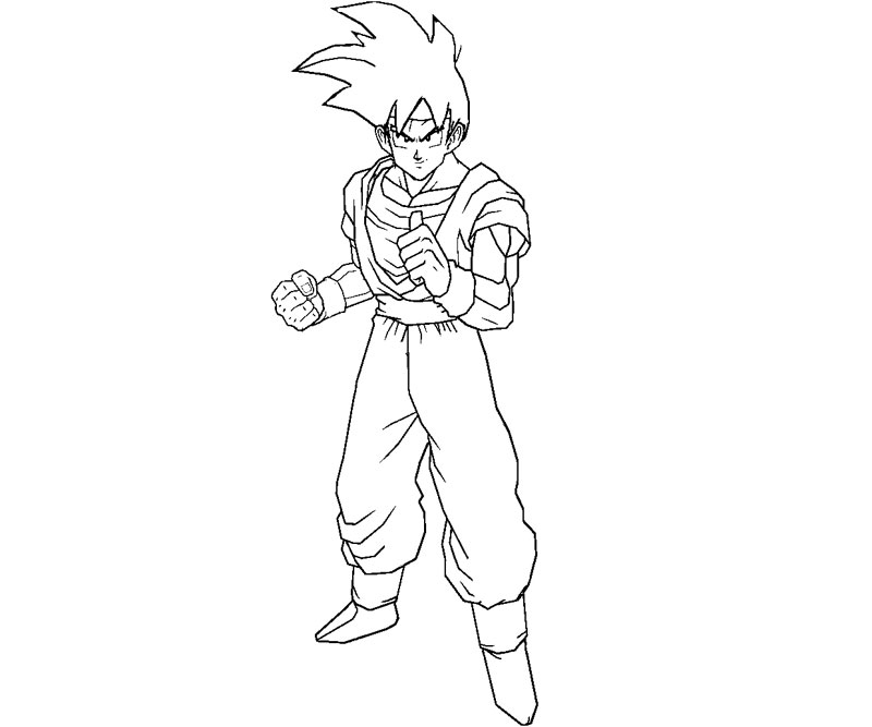 goten coloring pages - photo#7