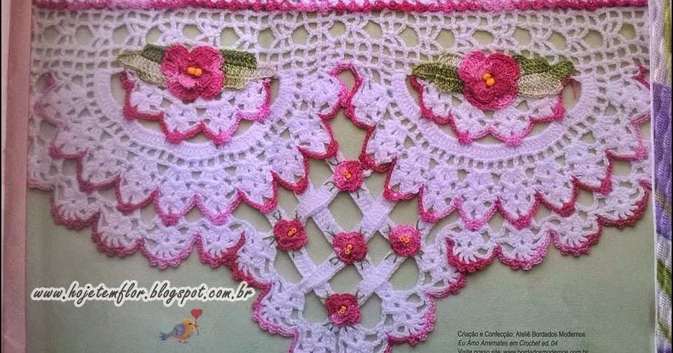 Barrado em crochê com gráfico - Crochê On Line - Gráficos, Paps e