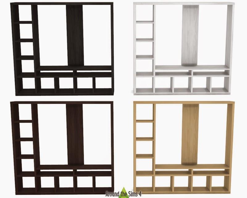 Meuble Tv Ikea Wenge : My Sims 4 Blog Ikea Furniture – Tv Unit, Shelves And Desks By Sandy