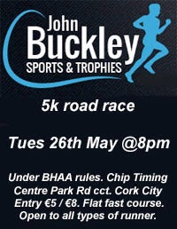 Big 5k race in Cork City...26th May