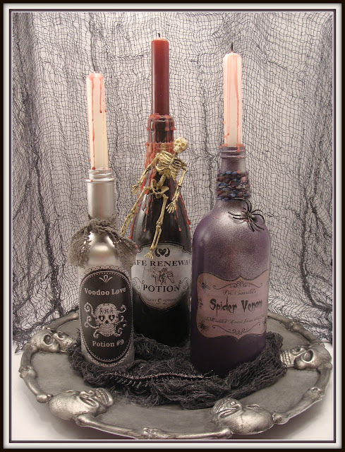 Halloween, Potion Bottles, Labels