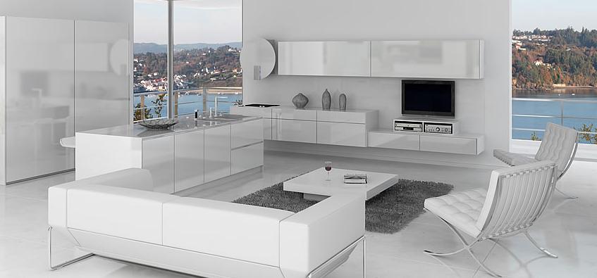 Una cocina sin complejos cocinas con estilo for Cocinas modernas blancas con peninsula